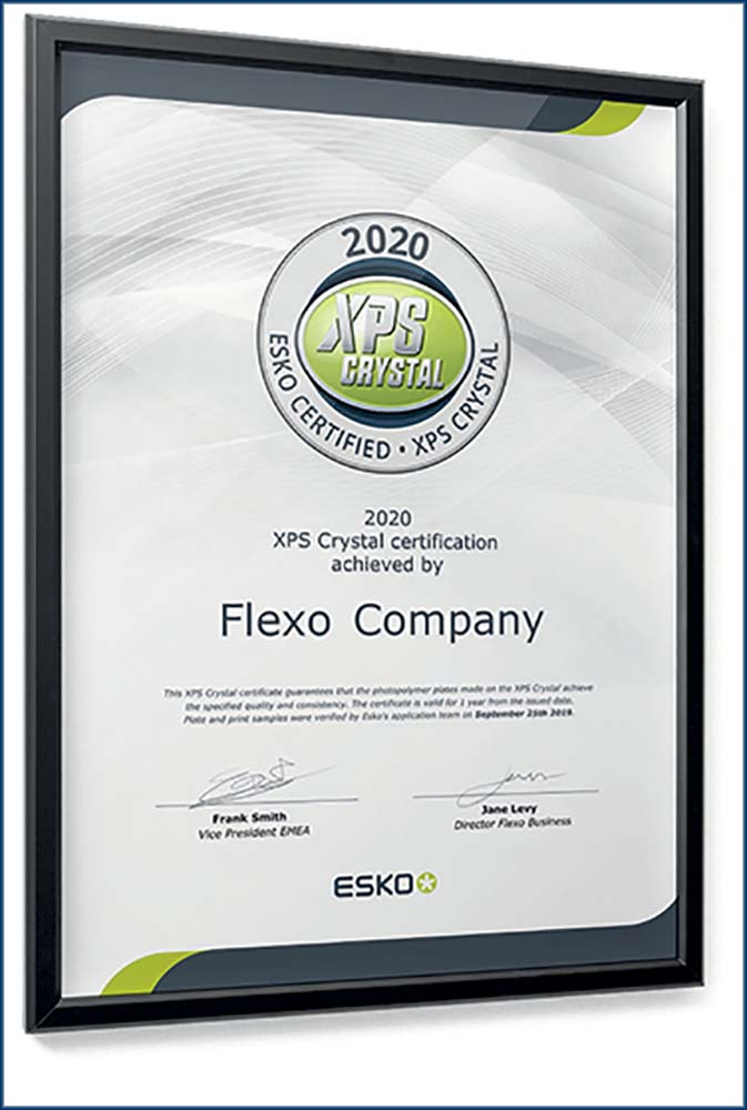 Flexo : certification XPS Crystal