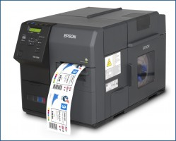 L'imprimante industrielle d'étiquettes couleur ColorWorks C7500 d'Epson.