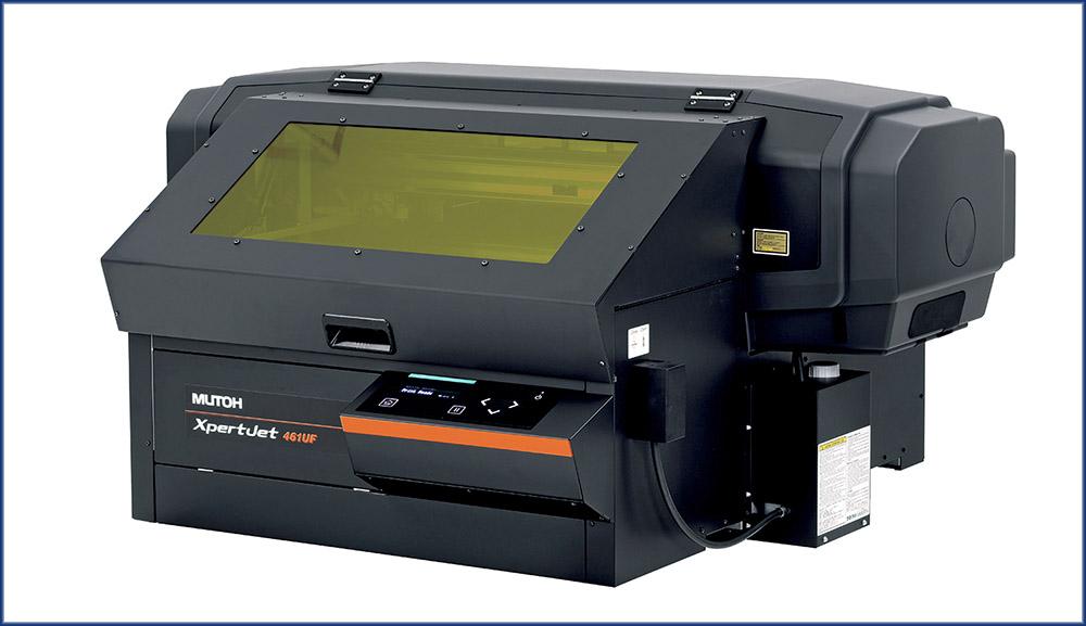 La gamme d'imprimantes d'objets XpertJet 461 UF et 661 UF, de Mutoh.